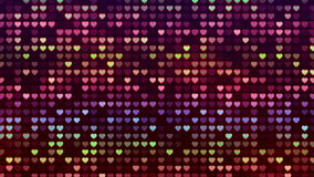 Abstract Loopable Background, flashing wall of hearts stock footage