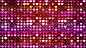 Abstract Loopable Background, flashing wall of hearts stock video