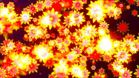 Abstract Loopable Background with nice flying flowers stock footage
