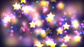 Abstract Loopable Background with nice flying stars. HD Loopable Abstract Background with nice flying stars for club visuals, LED installations, broadcasting royalty free illustration