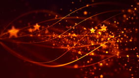 Abstract Loopable Background with nice golden flying stars stock footage