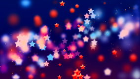 Abstract Loopable Background with nice multicolor flying stars. HD Loopable Abstract Background with nice multicolor flying stars for club visuals, LED royalty free illustration