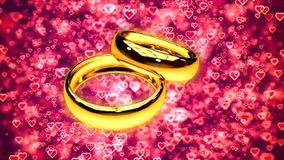 Abstract Loopable Background with two gold rings. HD Abstract Loopable Background with two gold rings stock footage