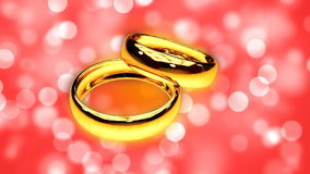 Abstract Loopable Background with two gold rings. HD Abstract Loopable Background with two gold rings stock video footage