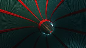 Abstract looped background with animation of flight in sci-fi tunnel with fantastic lights. HD Abstract looped background with animation of flight in sci-fi stock video footage