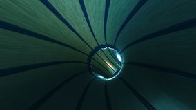 Abstract looped background with animation of flight in sci-fi tunnel with fantastic lights. HD Abstract looped background with animation of flight in sci-fi stock footage