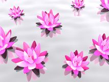 Abstract lotus. 3d rendered illustration of pink lotus flowers Royalty Free Stock Photography