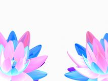 Abstract lotus. 3d rendered illustration of colorful lotus flowers Royalty Free Stock Photography