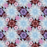 Abstract Lotus Flowers. Raster Seamless Background. Similar. Floral wallpaper Stock Images