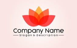 Abstract Lotus Spa e logo di Company immagini stock