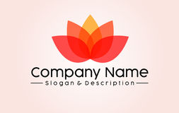 Abstract Lotus Spa et logo de Company Images stock