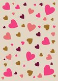 Abstract love background in soft brown and pink Royalty Free Stock Photo