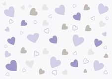 Abstract love background in soft purple and grey Stock Images