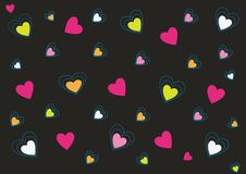 Abstract love background in vibrant pink Royalty Free Stock Photos