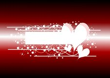 Abstract love banner on black Stock Photos