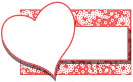 Abstract love banner with flowers isolated Royalty Free Stock Images