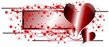 Abstract love banner with hearts isolated Royalty Free Stock Photography