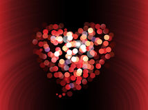 Abstract love bokeh background Royalty Free Stock Image