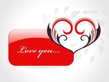Abstract love card with heart Royalty Free Stock Photo