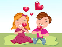 Abstract love cartoon Royalty Free Stock Images