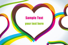 Abstract love colorful heart Background Stock Photo