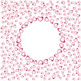 Abstract love frame from a pattern of hearts. For greeting cards, invitations Valentine`s day, wedding, birthday. Vector illustration Stock Photo