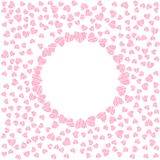 Abstract love frame from a pattern of hearts. For greeting cards, invitations Valentine's day, wedding, birthday. Vector illustration Royalty Free Illustration