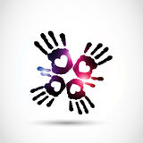 Abstract love hand Stock Images
