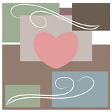 Abstract love and heart Stock Photography