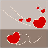 Abstract love and heart Royalty Free Stock Image