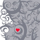 Abstract love heart background Stock Photography