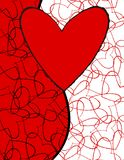 Abstract love heart background Stock Photos