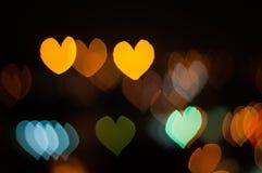 Abstract Love or heart shape bokeh background of Kuala Lumpur Stock Image