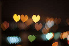 Abstract Love or heart shape bokeh background of Kuala Lumpur Royalty Free Stock Image