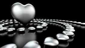 Abstract love hearts background Stock Image