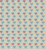 Abstract love hearts seamless pattern. Retro background with hea. Rts vector illustration