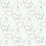 Abstract love hearts Seamless Pattern. For Saint Valentines Day cards. Eps10 stock illustration
