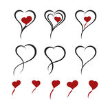 Abstract love icons Stock Photo