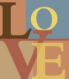 Abstract love letters. Letters forming word LOV, E abstract background vector illustration