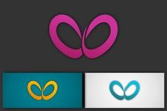 Abstract love logo. Leaf vector illustration