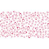 Abstract love pattern of hearts. For greeting cards, invitations Valentine`s day, wedding, birthday. Vector illustration Stock Photos