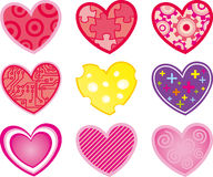 Abstract, love, set heart Stock Photo