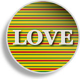 Abstract love sign Stock Photo