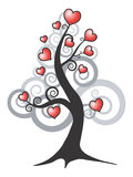 Abstract  love tree. Abstract  tree and love hearts Royalty Free Stock Photo