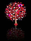 Abstract love tree background Royalty Free Stock Images