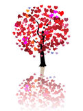 Abstract love tree background Stock Image