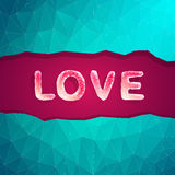 Abstract love vector illustration background. For valentine day Stock Images