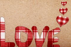 ABSTRACT LOVE on vintage paper Stock Photography