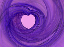 Abstract loving heart. Purple heart fractal (computer generated shape Stock Photos