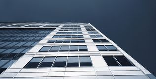 Abstract low angle view of commercial building. Stock Image
